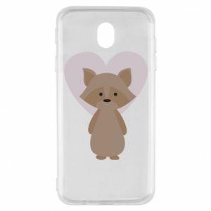 Etui na Samsung J7 2017 Raccoon with heart