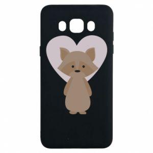 Etui na Samsung J7 2016 Raccoon with heart