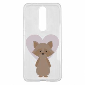 Etui na Nokia 5.1 Plus Raccoon with heart