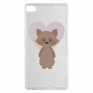 Etui na Huawei P8 Raccoon with heart