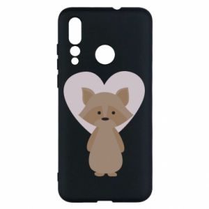 Etui na Huawei Nova 4 Raccoon with heart