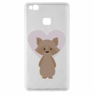 Etui na Huawei P9 Lite Raccoon with heart