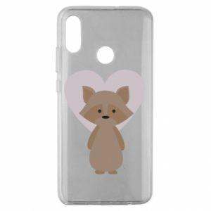 Etui na Huawei Honor 10 Lite Raccoon with heart