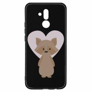 Etui na Huawei Mate 20 Lite Raccoon with heart