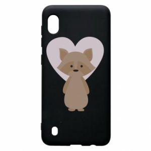 Etui na Samsung A10 Raccoon with heart