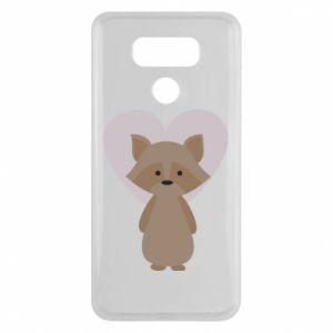 Etui na LG G6 Raccoon with heart