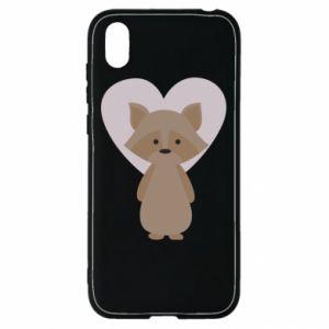 Etui na Huawei Y5 2019 Raccoon with heart