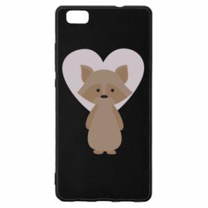 Etui na Huawei P 8 Lite Raccoon with heart