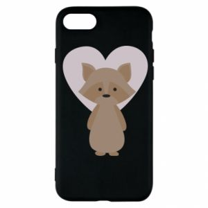 Etui na iPhone SE 2020 Raccoon with heart