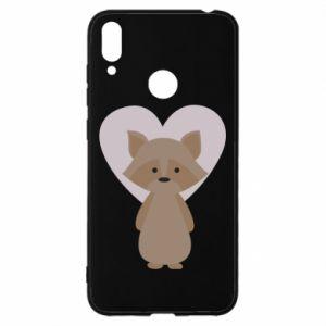 Etui na Huawei Y7 2019 Raccoon with heart