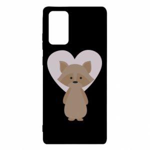 Etui na Samsung Note 20 Raccoon with heart