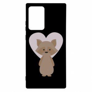 Etui na Samsung Note 20 Ultra Raccoon with heart