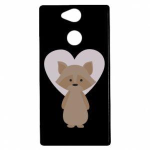 Etui na Sony Xperia XA2 Raccoon with heart