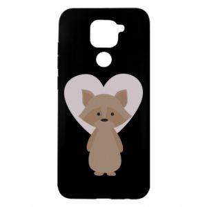 Etui na Xiaomi Redmi Note 9/Redmi 10X Raccoon with heart