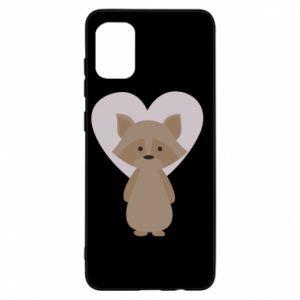 Etui na Samsung A31 Raccoon with heart