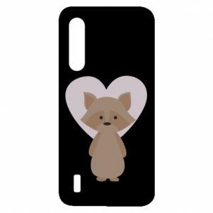 Etui na Xiaomi Mi9 Lite Raccoon with heart