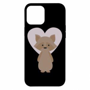 Etui na iPhone 12 Pro Max Raccoon with heart