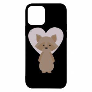 Etui na iPhone 12/12 Pro Raccoon with heart