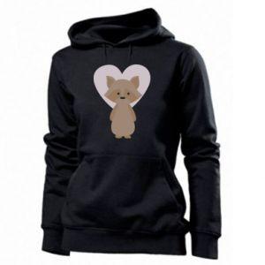 Bluza damska Raccoon with heart