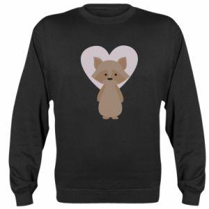 Bluza Raccoon with heart