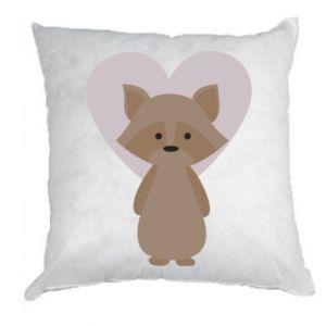 Poduszka Raccoon with heart