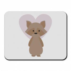 Podkładka pod mysz Raccoon with heart
