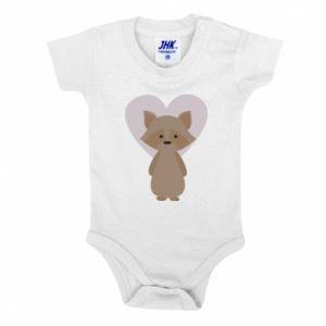 Body dziecięce Raccoon with heart