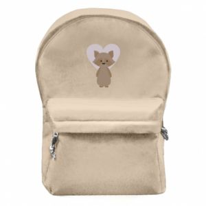 Plecak z przednią kieszenią Raccoon with heart