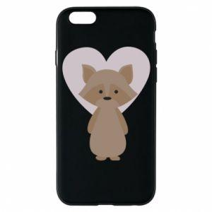 Etui na iPhone 6/6S Raccoon with heart