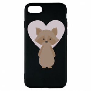 Etui na iPhone 7 Raccoon with heart