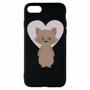 Etui na iPhone 8 Raccoon with heart