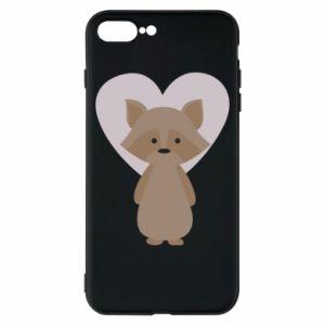 Etui na iPhone 8 Plus Raccoon with heart