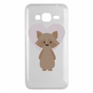 Etui na Samsung J3 2016 Raccoon with heart