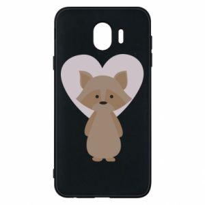 Etui na Samsung J4 Raccoon with heart