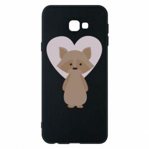 Etui na Samsung J4 Plus 2018 Raccoon with heart