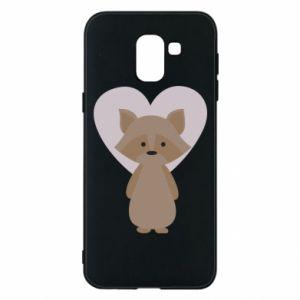 Etui na Samsung J6 Raccoon with heart