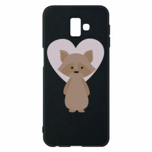 Etui na Samsung J6 Plus 2018 Raccoon with heart