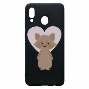 Etui na Samsung A30 Raccoon with heart