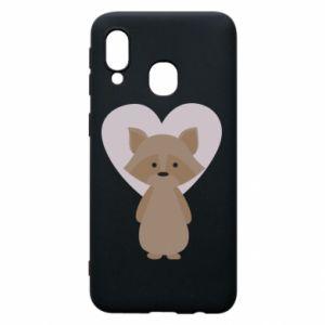 Etui na Samsung A40 Raccoon with heart