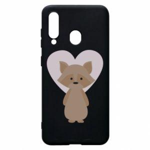 Etui na Samsung A60 Raccoon with heart