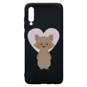 Etui na Samsung A70 Raccoon with heart