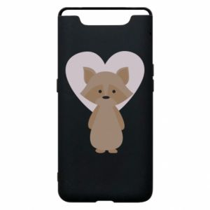 Etui na Samsung A80 Raccoon with heart