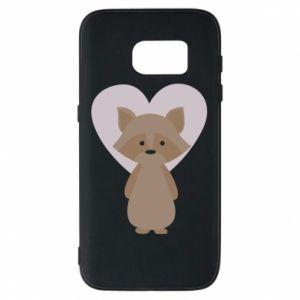 Etui na Samsung S7 Raccoon with heart