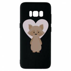 Etui na Samsung S8 Raccoon with heart