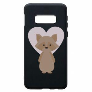 Etui na Samsung S10e Raccoon with heart