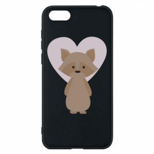 Etui na Huawei Y5 2018 Raccoon with heart