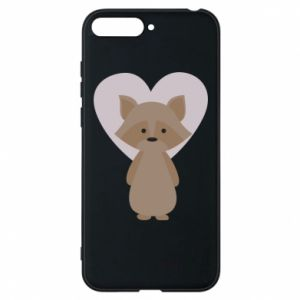Etui na Huawei Y6 2018 Raccoon with heart