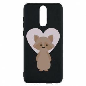 Etui na Huawei Mate 10 Lite Raccoon with heart