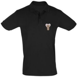 Koszulka Polo Raccoon with heart