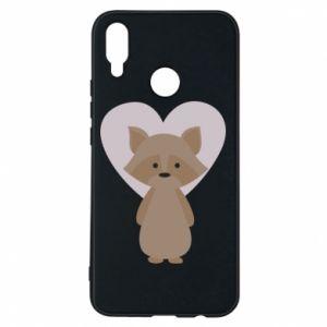 Etui na Huawei P Smart Plus Raccoon with heart